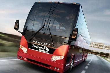 Red Coach Bus