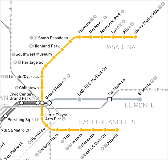 How to get to rose bowl stadium map gold line publicscrutiny Gallery