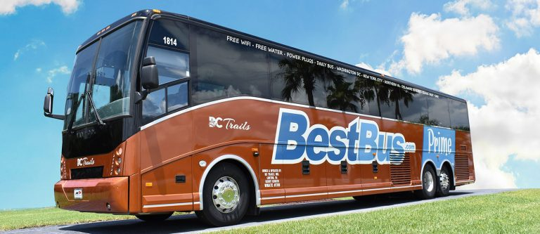 Photo of a BestBus Prime vehicle, considered a luxury travel bus.