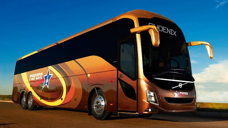 Photo of a Tufesa Ejecutivo luxury bus.