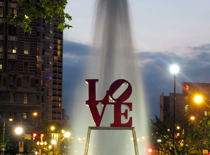 The famous LOVE sign in Philadelphia.