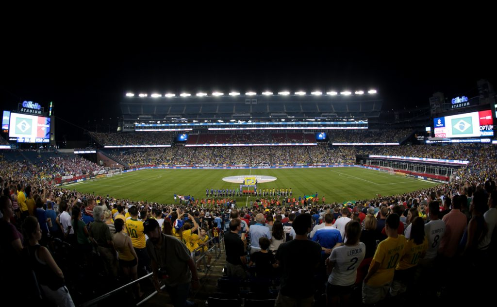 Gillette Stadium in Foxborough, MA.