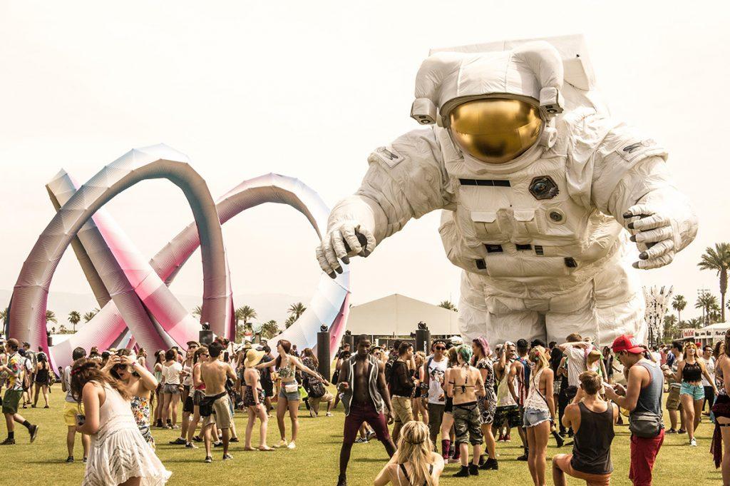 Photo of the Coachella Music Festival grounds.