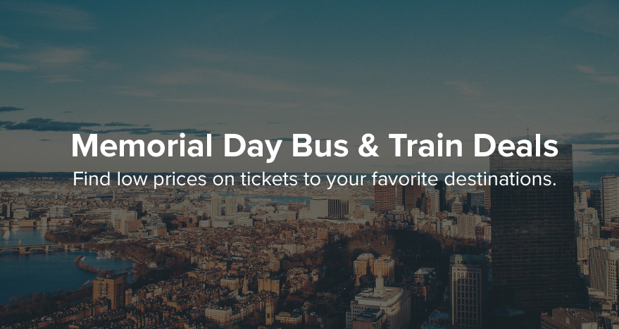 Memorial day bus train deals wanderu for Memorial day weekend getaways near nyc