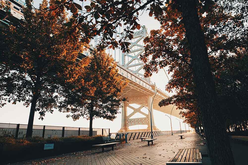 Photo of Philadelphia in the fall.