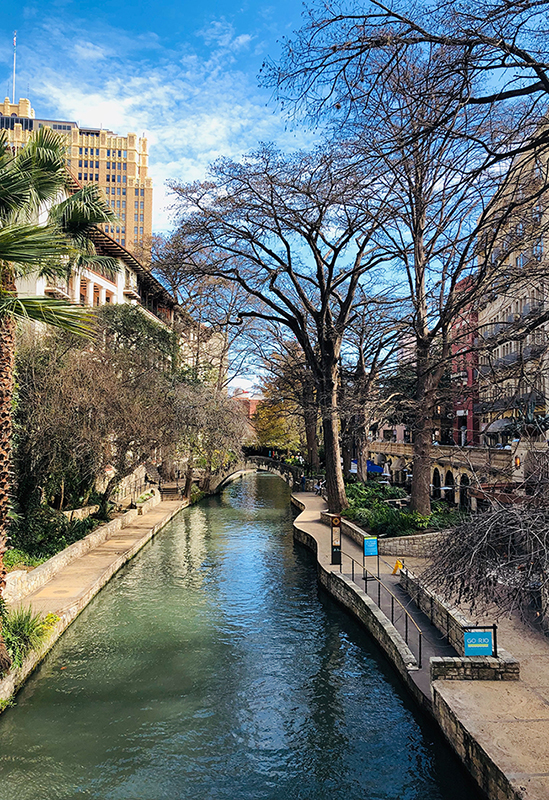 Photo of the San Antonio Riverwalk in fall.