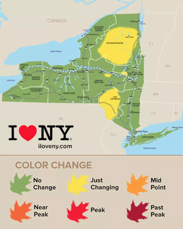 Foliage Map New York 2017.How To Find The Best Fall Foliage In New York State Wanderu