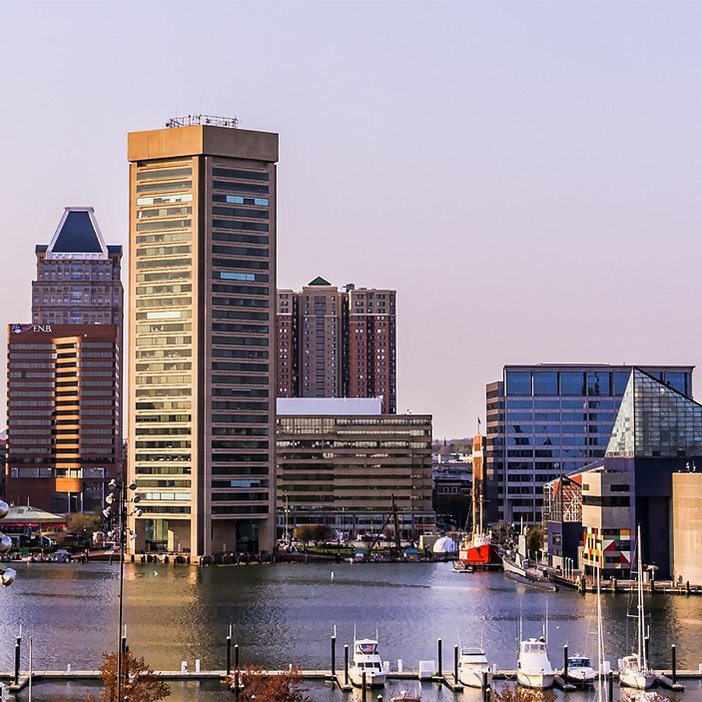 Cheap bus and train travel from Baltimore.