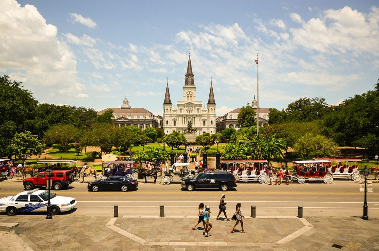 Cheap bus and train travel from New Orleans.