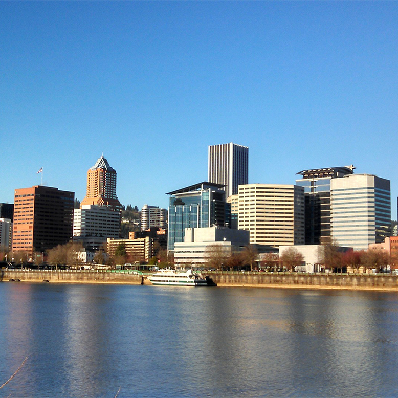 Cheap bus and train travel from Portland.