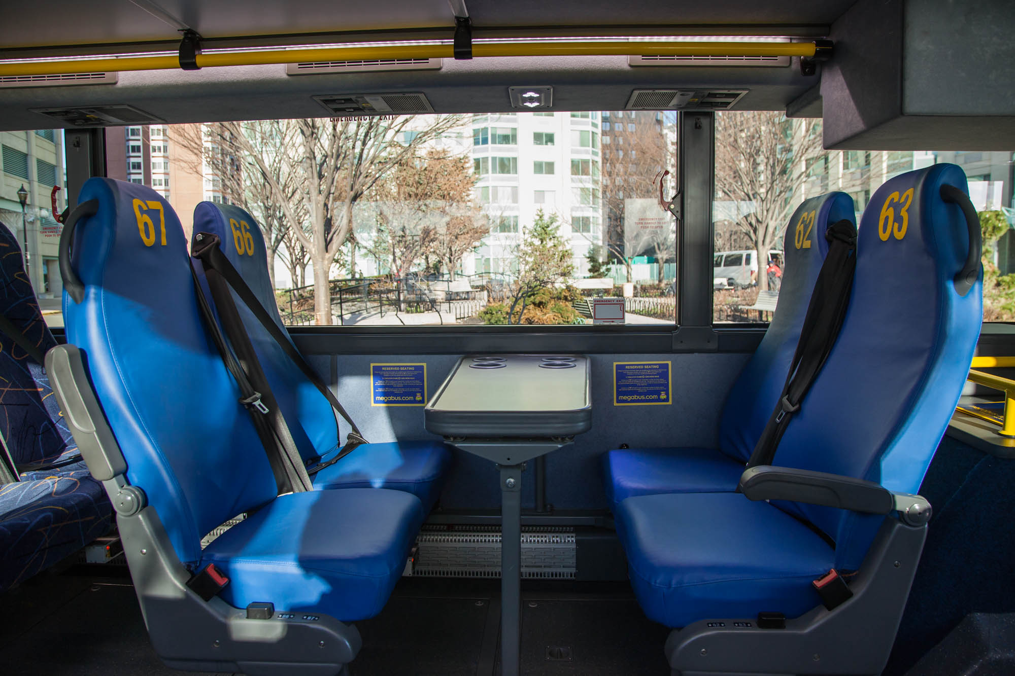 Megabus seat balcony for Balcony seating
