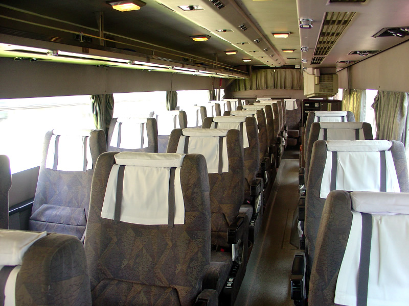 Handicap Bus Transportation: bus interior