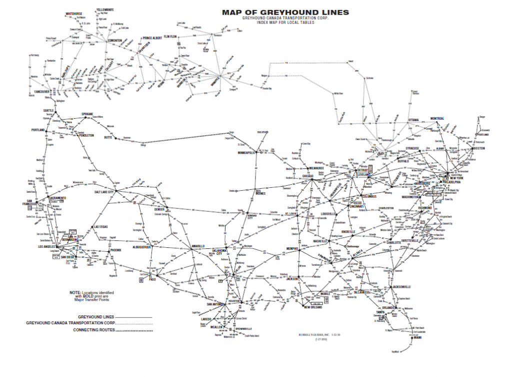 greyhound route map bus