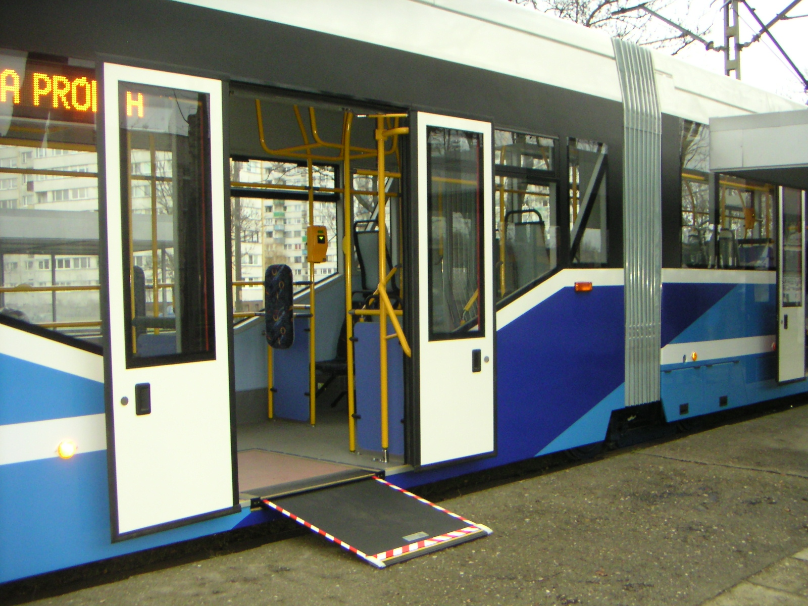 Wheelchair ramp on Handicap Bus Transportation