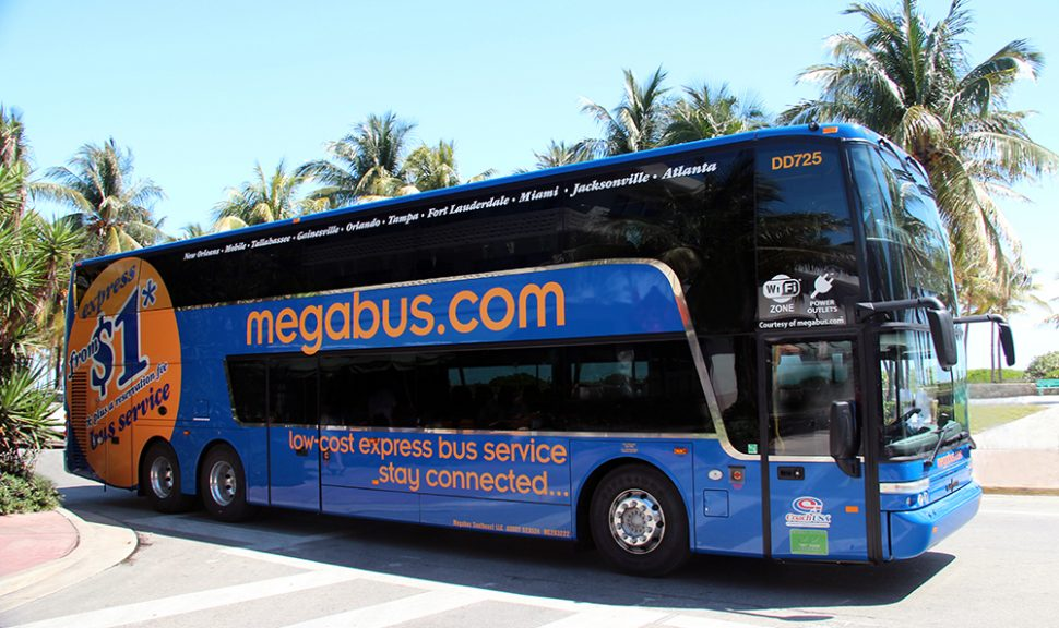 Megabus travel in Florida.