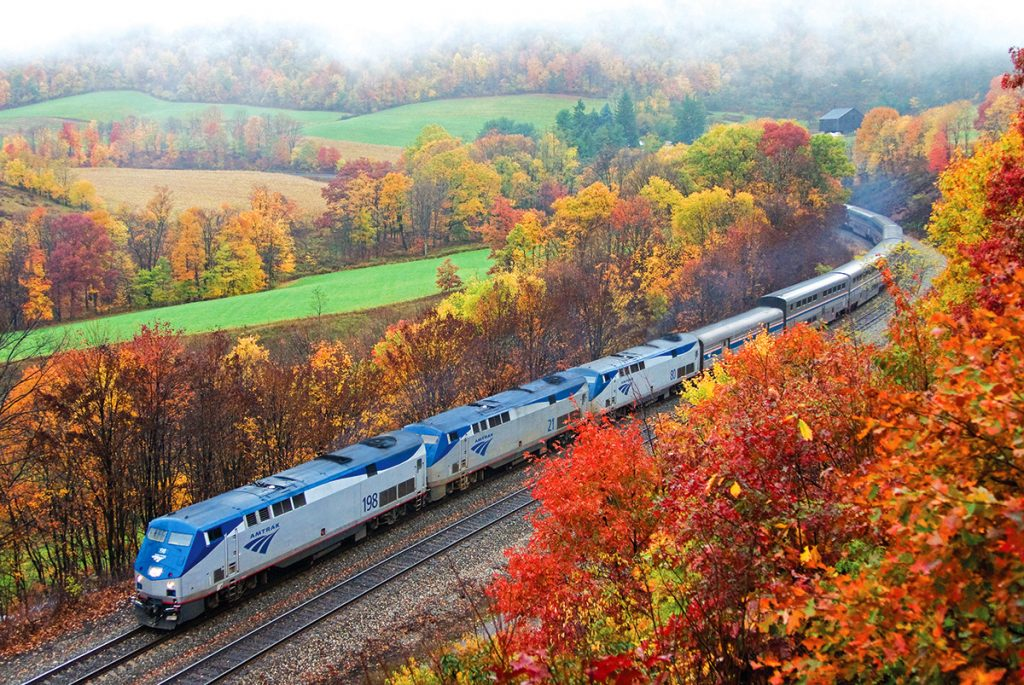 Amtrak fall foliage train routes