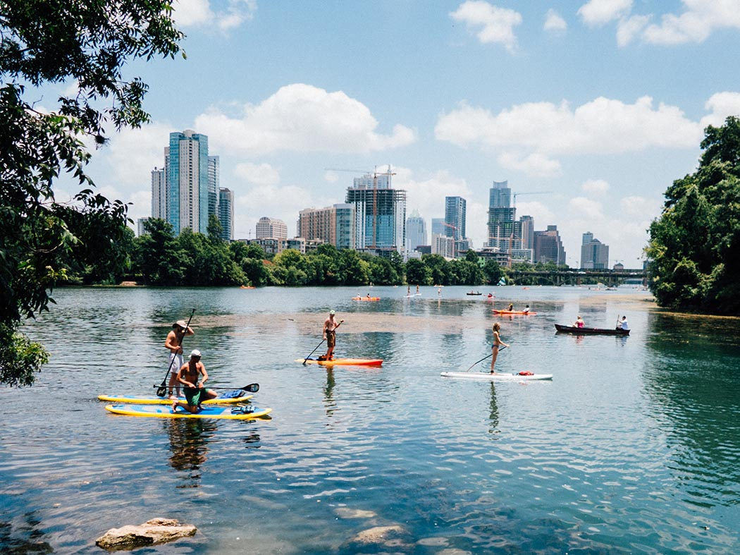Photo of the river in Austin, Texas.
