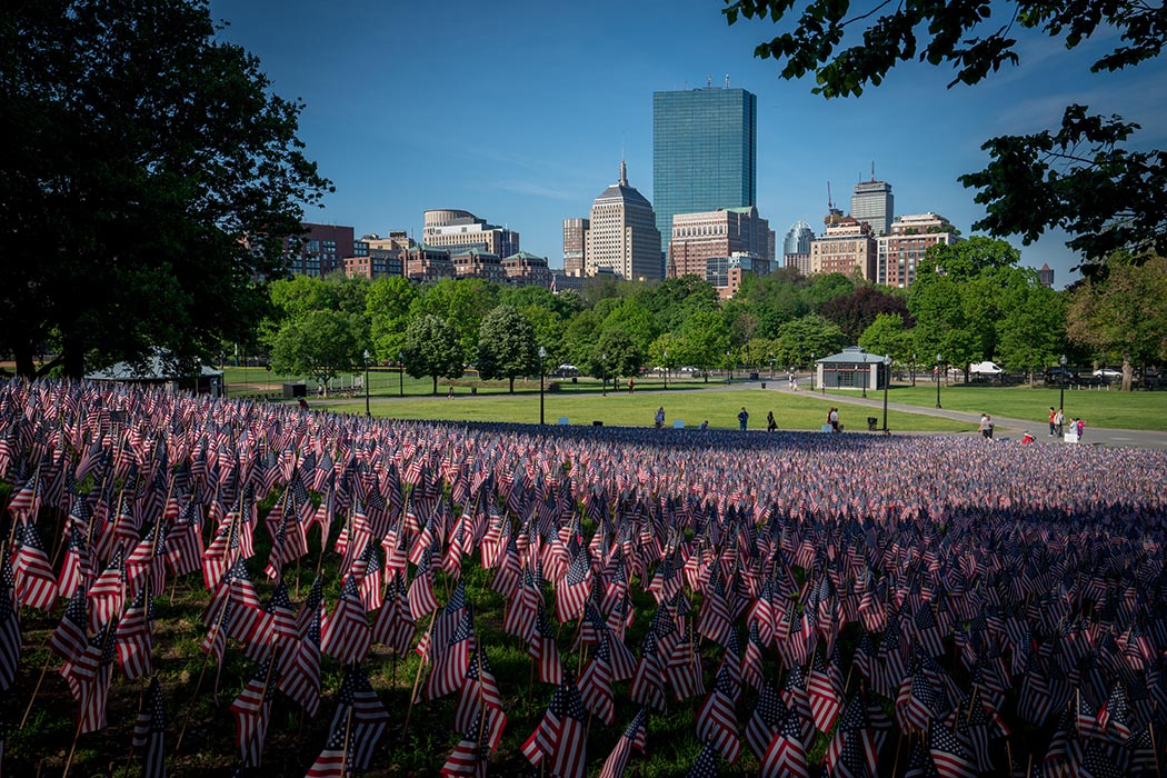 Photo of Boston Common on Memorial Day.