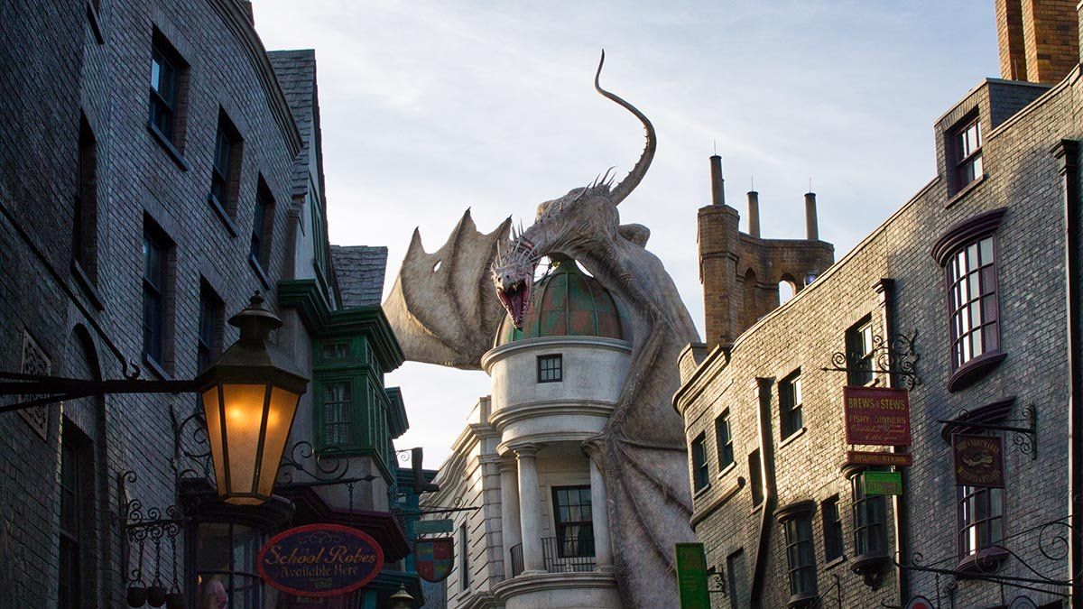Photo of the Wizarding World of Harry Potter in Universal Orlando.