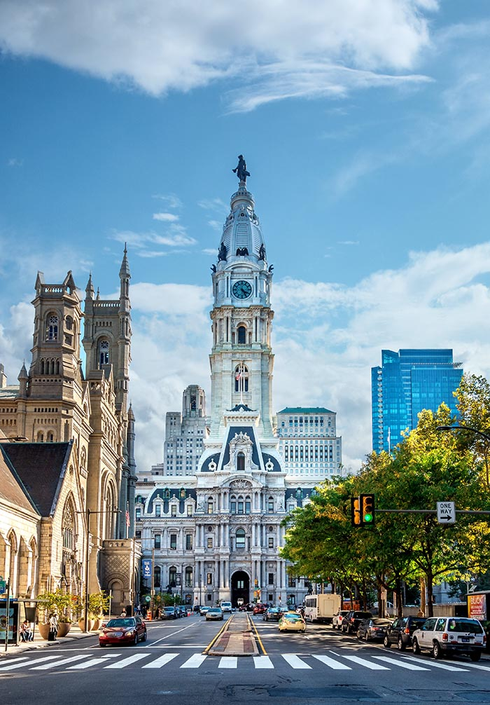 Photo of the Philadelphia city hall.