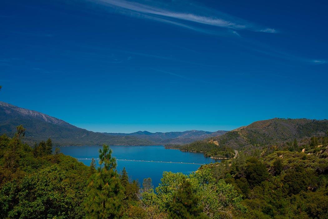 Photo of a lake near Redding, California.