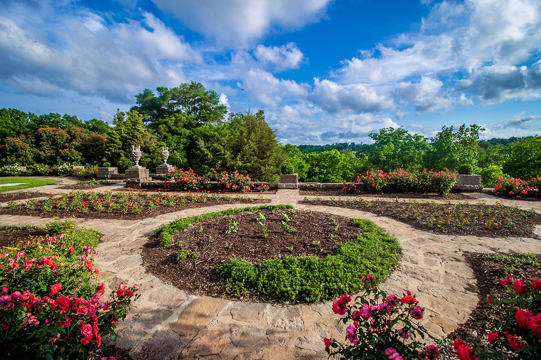 Photo of a Maymont Park terrace in Richmond, Virginia.