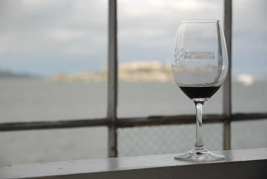 Photo from the 2010 San Francisco Chronicle wine competition, with Alcatraz in the background.