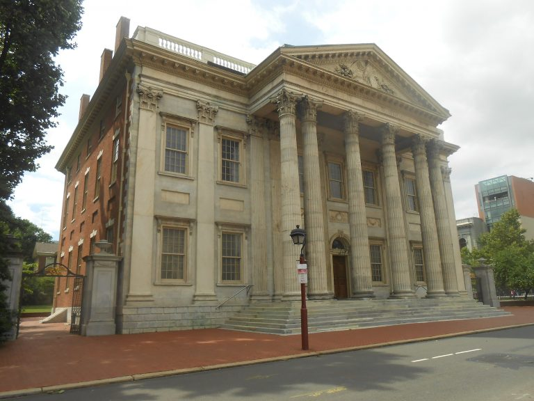Photo of the First Bank in Philadelphia, PA.