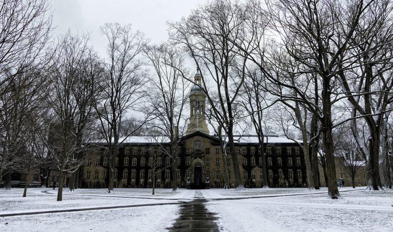 Photo of Nassau Hall at Princeton University.