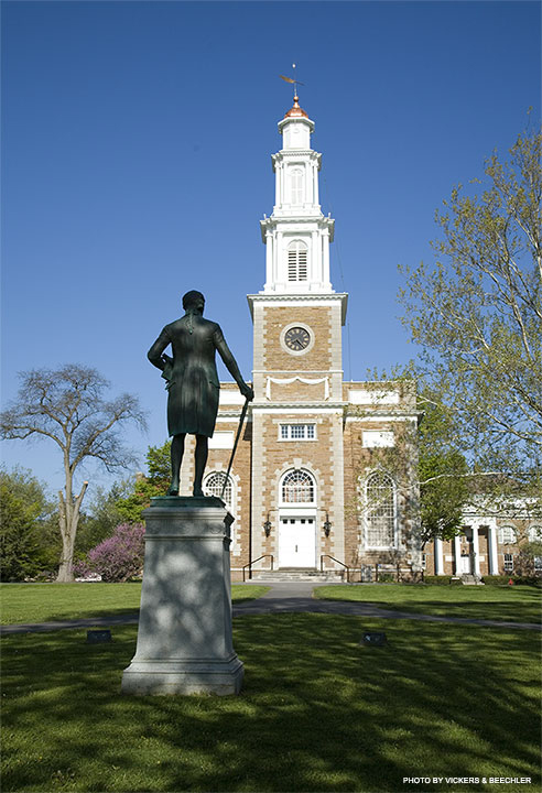 Photo of the campus at Hamilton College in Clinton, NY.