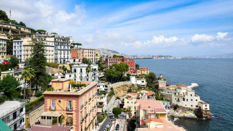 Photo of Naples along the coast of Italy.