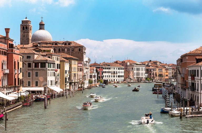 Photo of the Canal Grande in Venice.