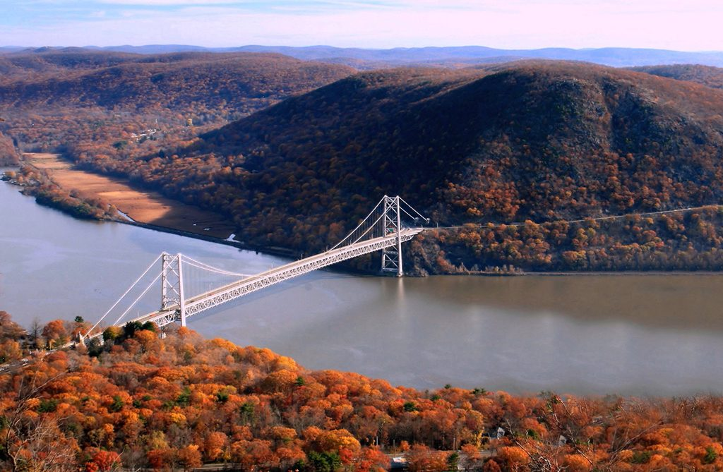 Photo of the Hudson River Valley in autumn.
