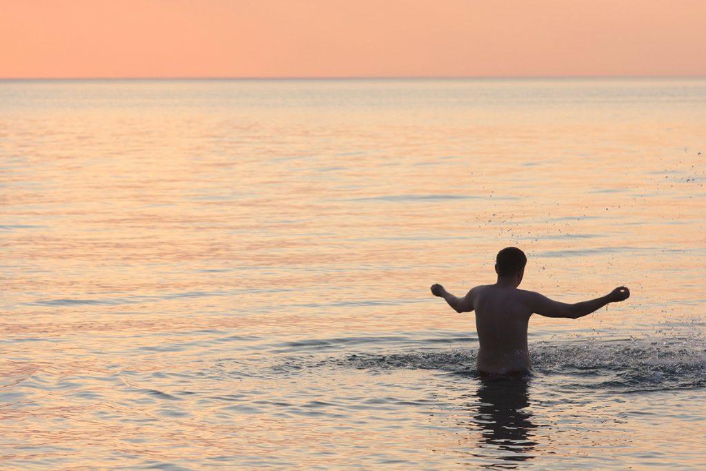 Photo of Lake Michigan from New Buffalo, Michigan.