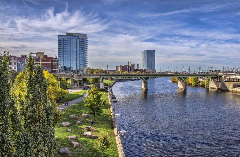 A river runs through downtown Philly.
