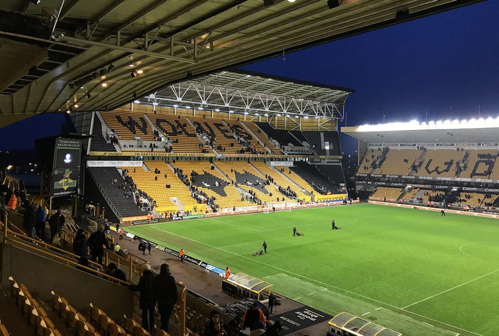 Molineaux Stadium, home of the Wolverhampton Wanderers.