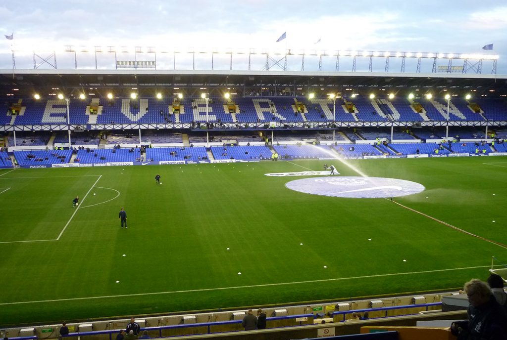 Goodison Park, home of Everton United.