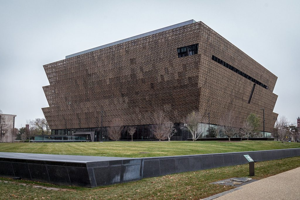 Photo of the National Museum of African American History and Culture.