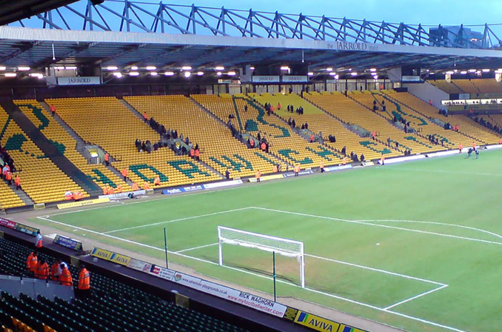 Carrow Road stadium, home of Norwich City FC.