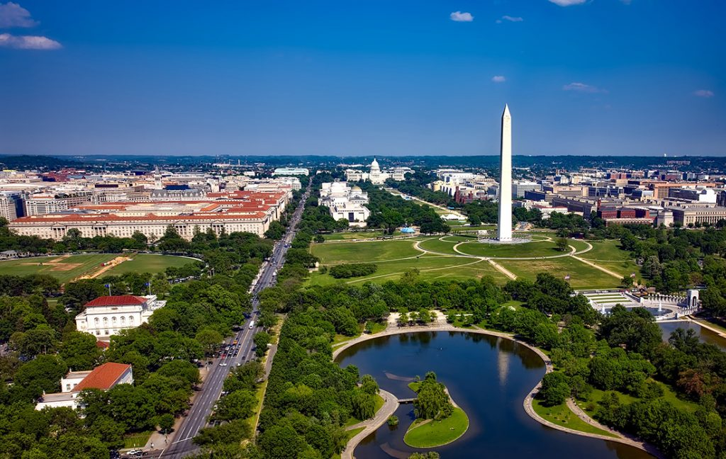 Photo of the National Mall in Washington, DC.