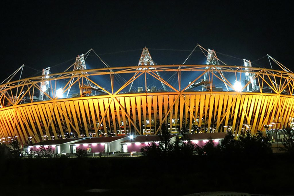 Olympic Stadium, home of West Ham United FC.
