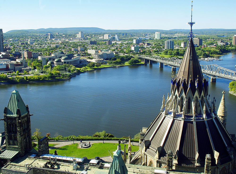 Photo of downtown Ottawa on a sunny day.
