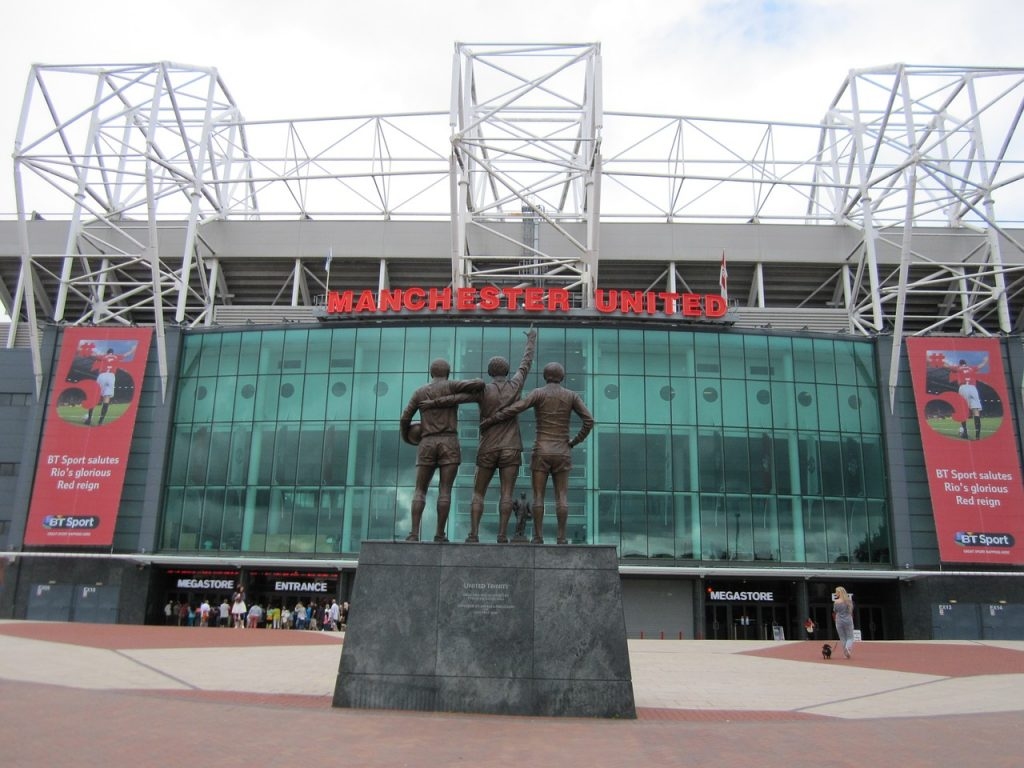 Old Trafford Stadium, home of Manchester United FC.
