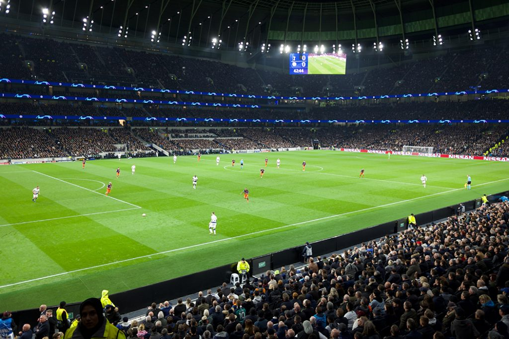 Photo taken during a Tottenham F.C. game.