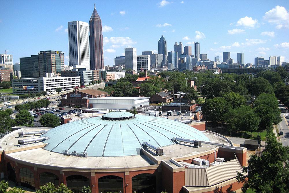 Photo of the Atlanta skyline.