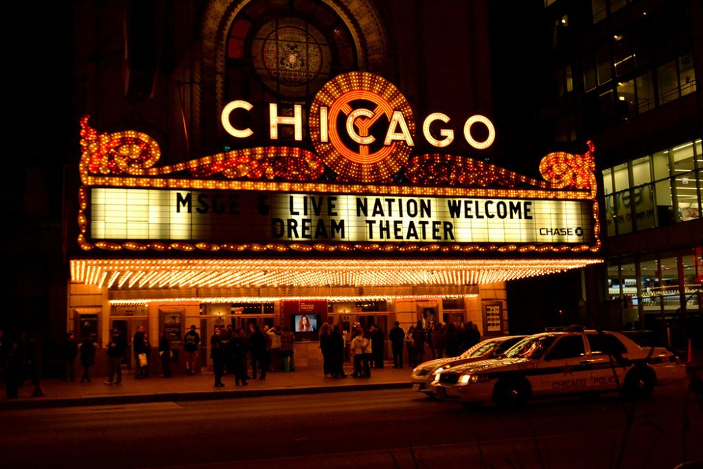 Photo of a Chicago theater in the downtown Loop.