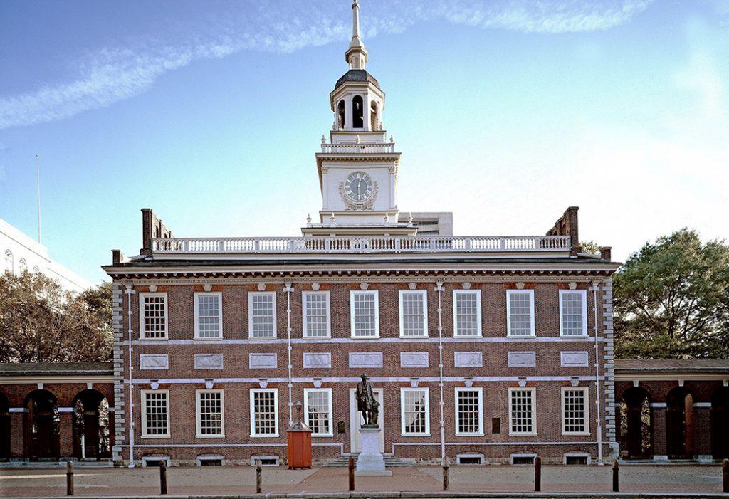 Photo of Independence Hall in Philadelphia.
