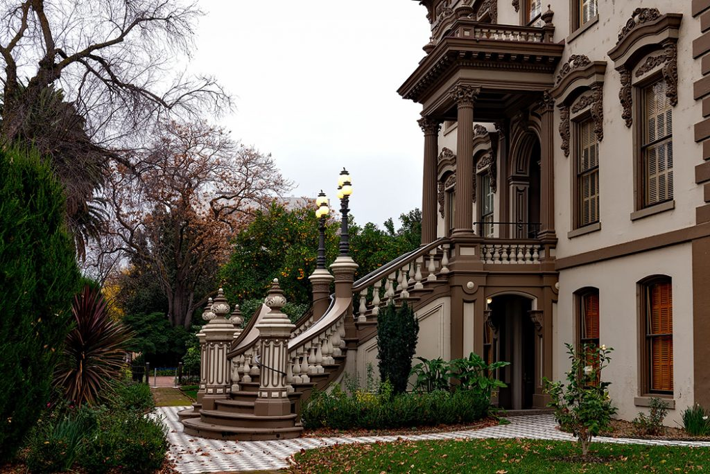 Photo of the Leland Stanford Mansion in Sacramento.