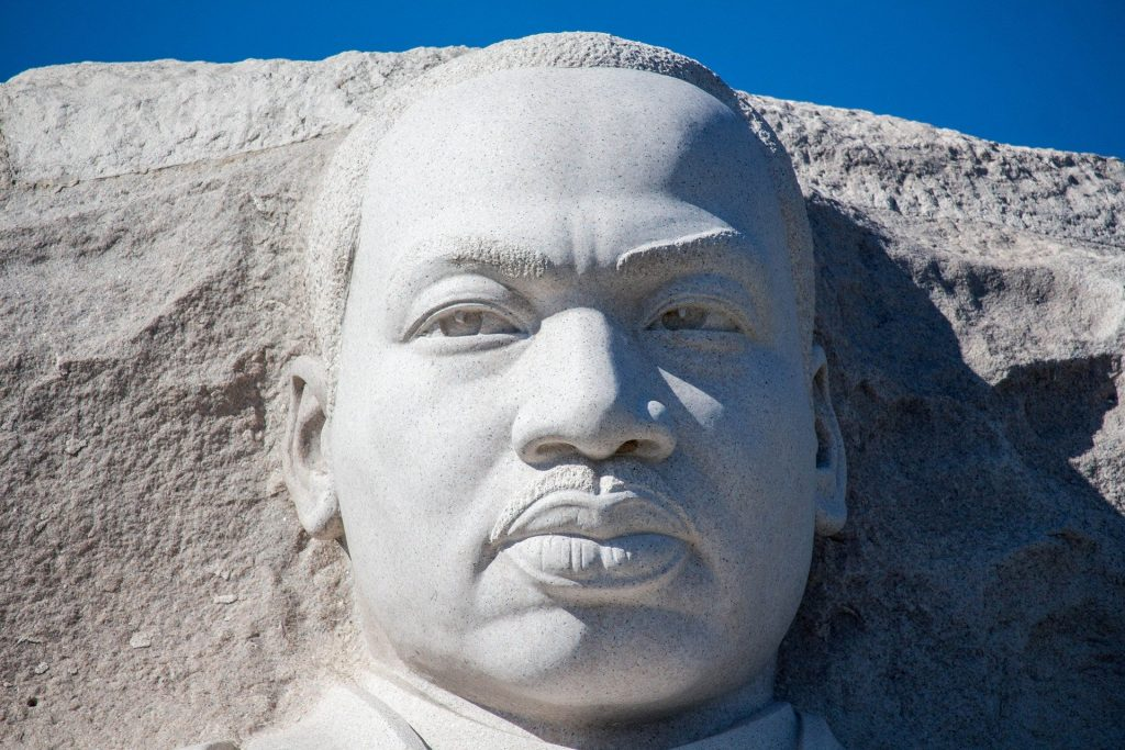 Photo of the MLK Jr. Memorial in Washington DC.