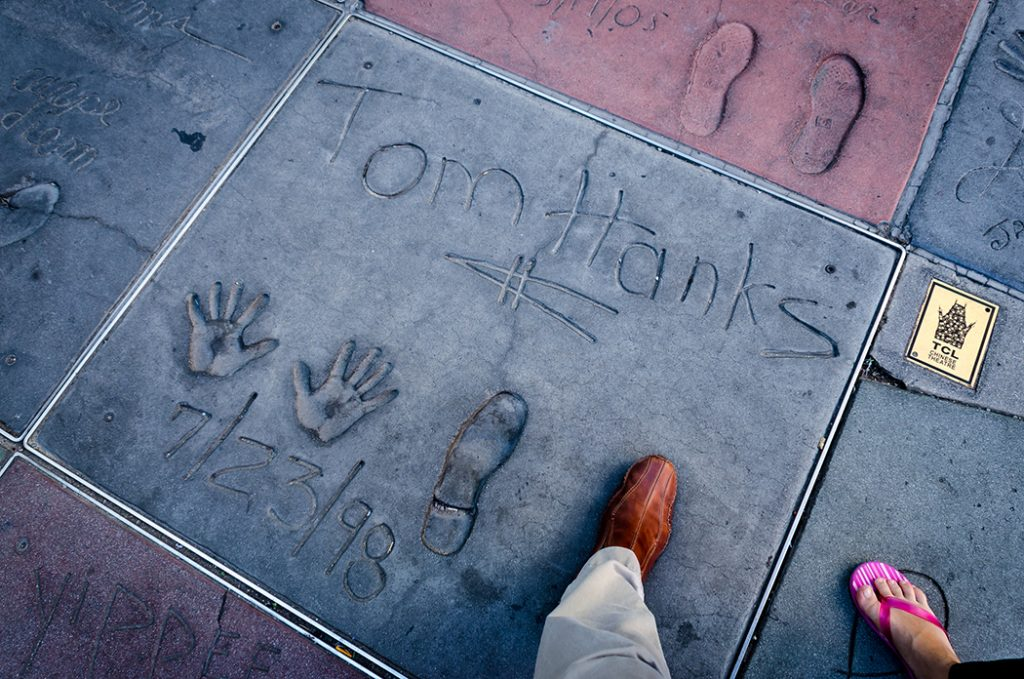 Photo of the Forecourt of the Stars outside the TCL Chinese Theatre.